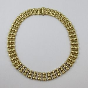 Collier, 84 diamants, 18K, C3143-1