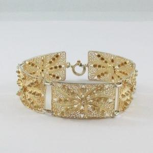 Bracelet argent plaqué or, B7019-1