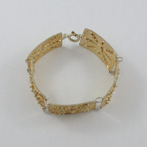 Bracelet argent plaqué or, B7019-2