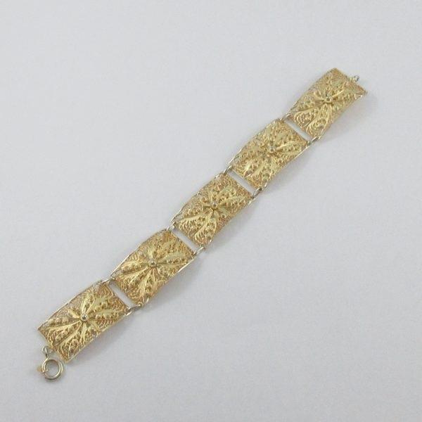 Bracelet argent plaqué or, B7019-3