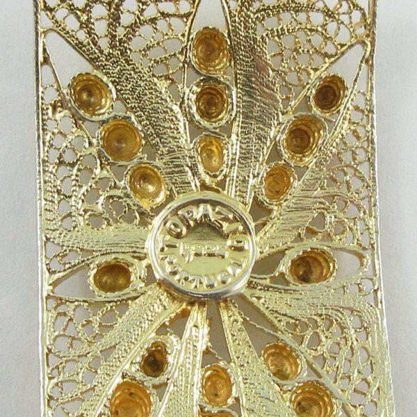 Bracelet argent plaqué or, B7019-4