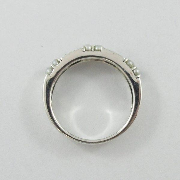 Jonc, perles et marcassites, argent, B7039-3