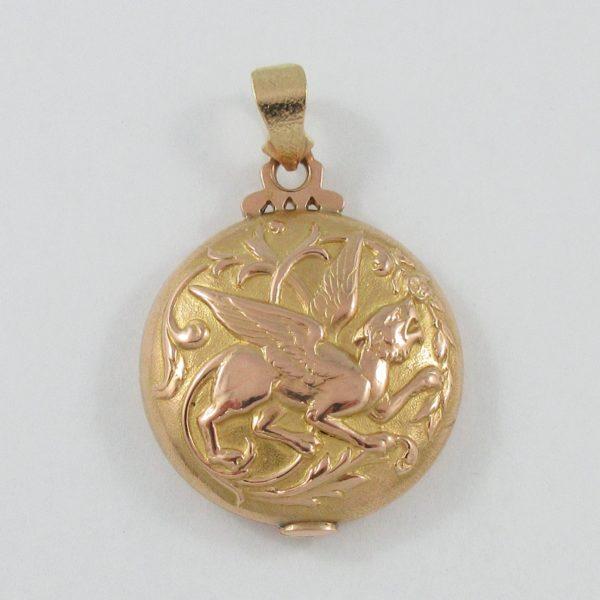 Pendentif Griffon, 18K rose et jaune, B7049-1