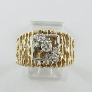Bague 7 diamants, 14K , B7058-1