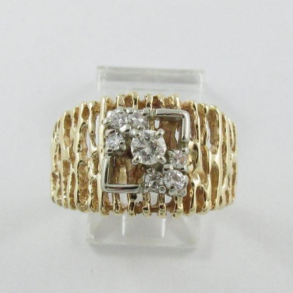 Bague 7 diamants, 14K , B7058-1