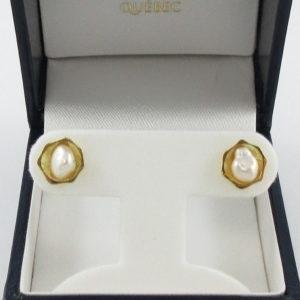 Boucles d'oreilles perles d'eau douce, 18K jaune, B7086-1