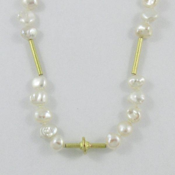 Sautoir, perles d'eau douce 'BIWA', 18K jaune, B7087--3