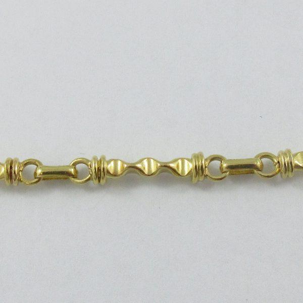 Collier perles d'eau douce, 22K jaune, B7007-3