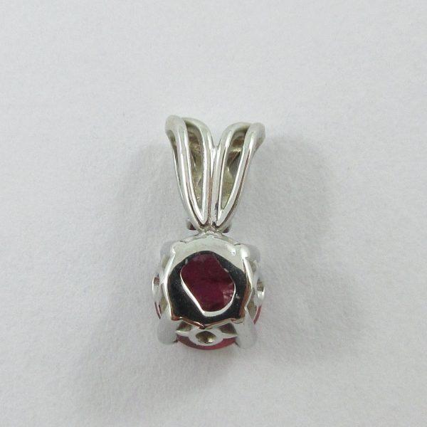 Pendentif, rubis, 14K blanc, B7094-3