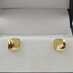 Boucles d'oreilles, 18K jaune, B7104-1