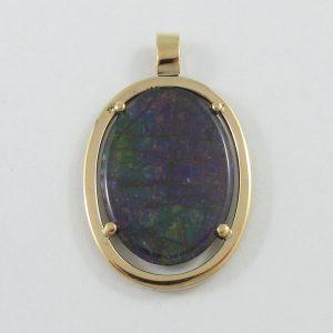 Pendentif, ammolite, 18K jaune, B7105-1