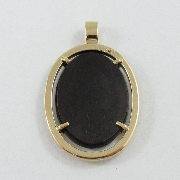 Pendentif, ammolite, 18K jaune, B7105-4