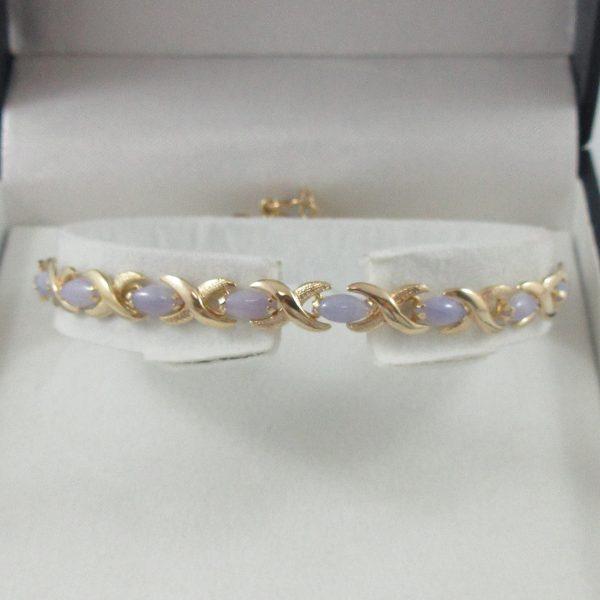 Bracelet, jadéites, 14K jaune, B7130-1