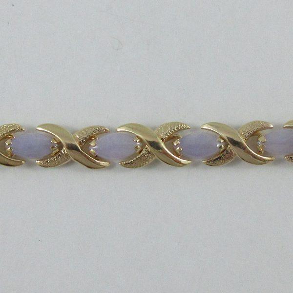 Bracelet, jadéites, 14K jaune, B7130-2