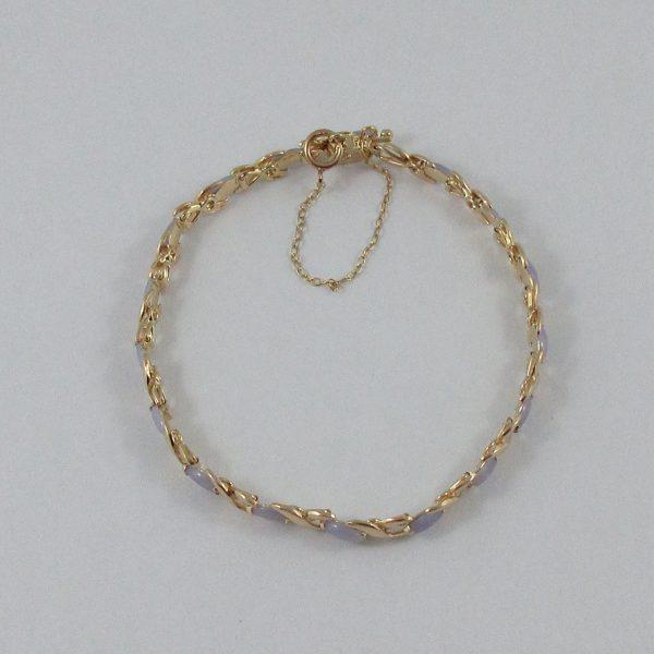 Bracelet, jadéites, 14K jaune, B7130-3