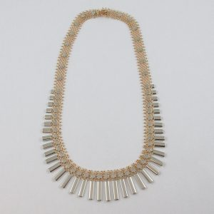 Collier, 2 tons, 18K, B7139-1