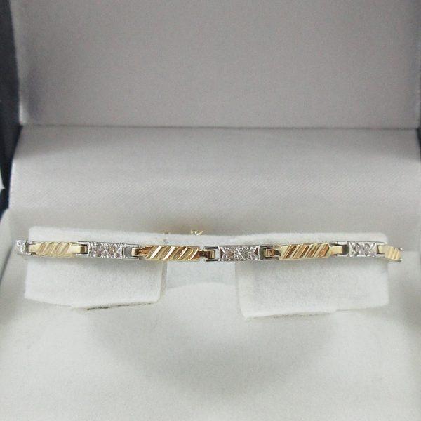 Bracelet, diamants, 10K, B7140-1