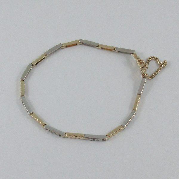 Bracelet, diamants, 10K, B7140-2