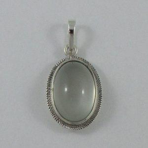 Pendentif, pierre de lune, argent, B7157-1