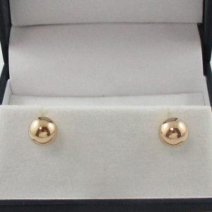 Boucles d'oreilles, billes, 10K jaune, B7163-1