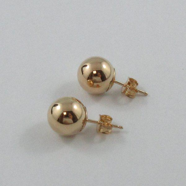 Boucles d'oreilles, billes, 10K jaune, B7163-2