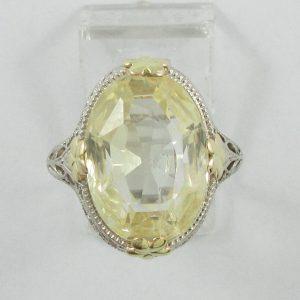 Bague, saphir jaune, 14K, B7171-1