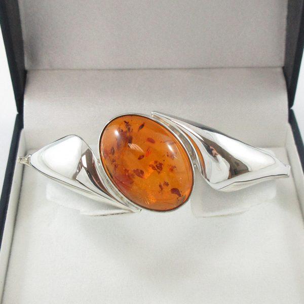 Bracelet, ambre, argent, B6984-1