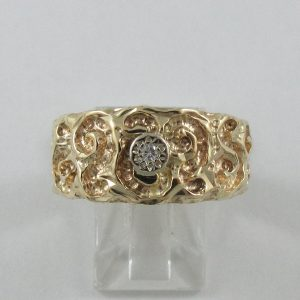 Bague, diamant, 10K jaune, B7185-1