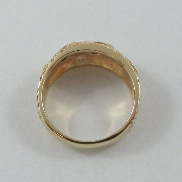 Bague, 3 diamants, 14K jaune, B7186-4