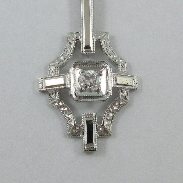 Pendenetif, diamant, 14K blanc, B7187-2