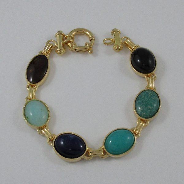Bracelet, pierres multicolores, B7197