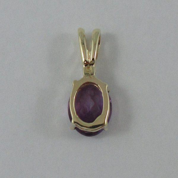 Pendentif, améthyste et diamant, 10K Jaune, B7208-3