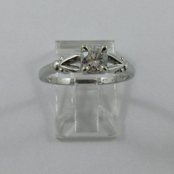Bague, diamant, 18K blanc,B7227-1