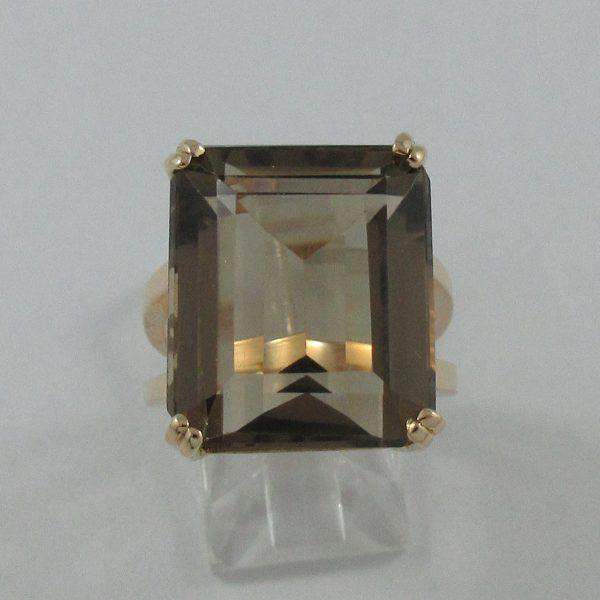 Bague, quartz fumé, 18K rose, B7230-1