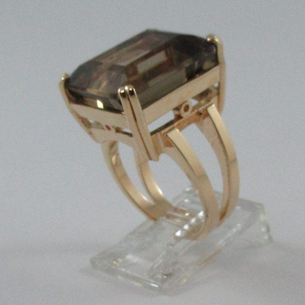 Bague, quartz fumé, 18K rose, B7230-2