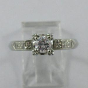 Bague, diamant, 18K blanc, B7246-1