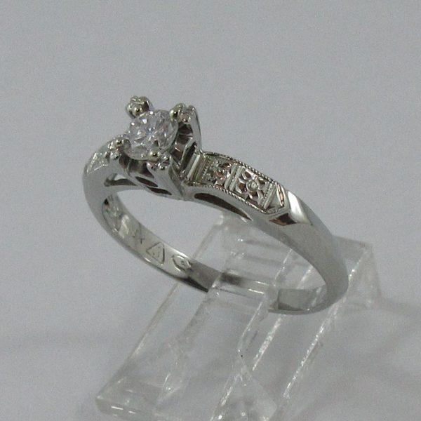 Bague, diamant, 18K blanc, B7246-2