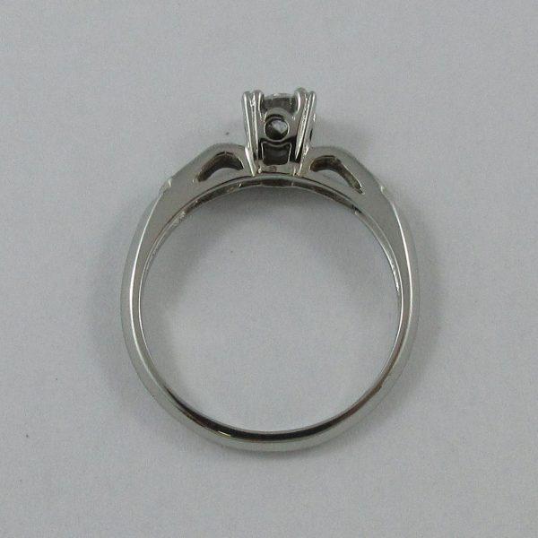 Bague, diamant, 18K blanc, B7246-3