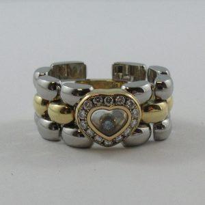 Bague, Chopard stainless steel et 18K jaune, C3161-1