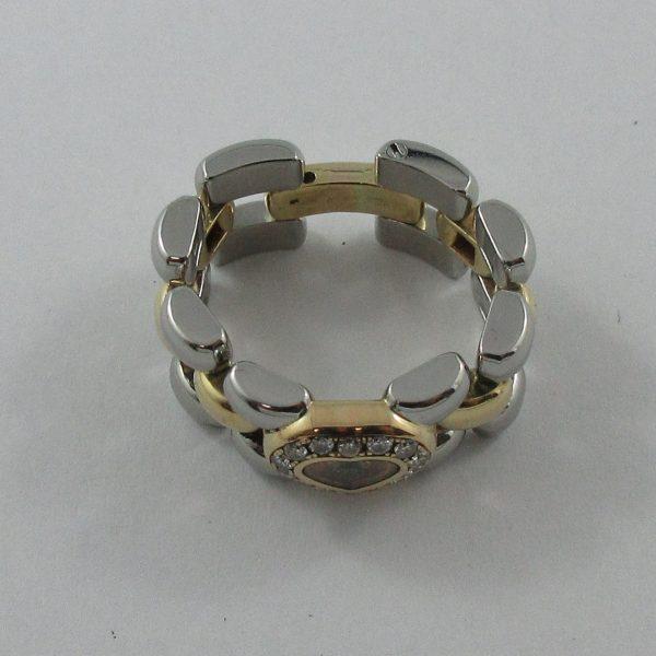 Bague, Chopard stainless steel et 18K jaune, C3161-2